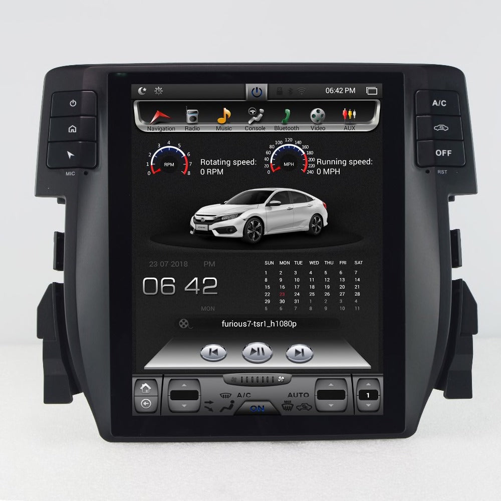 "[Open Box] Honda Civic 2016 - 2019 10.4"" Vertical Screen Android Radio Tesla Style"