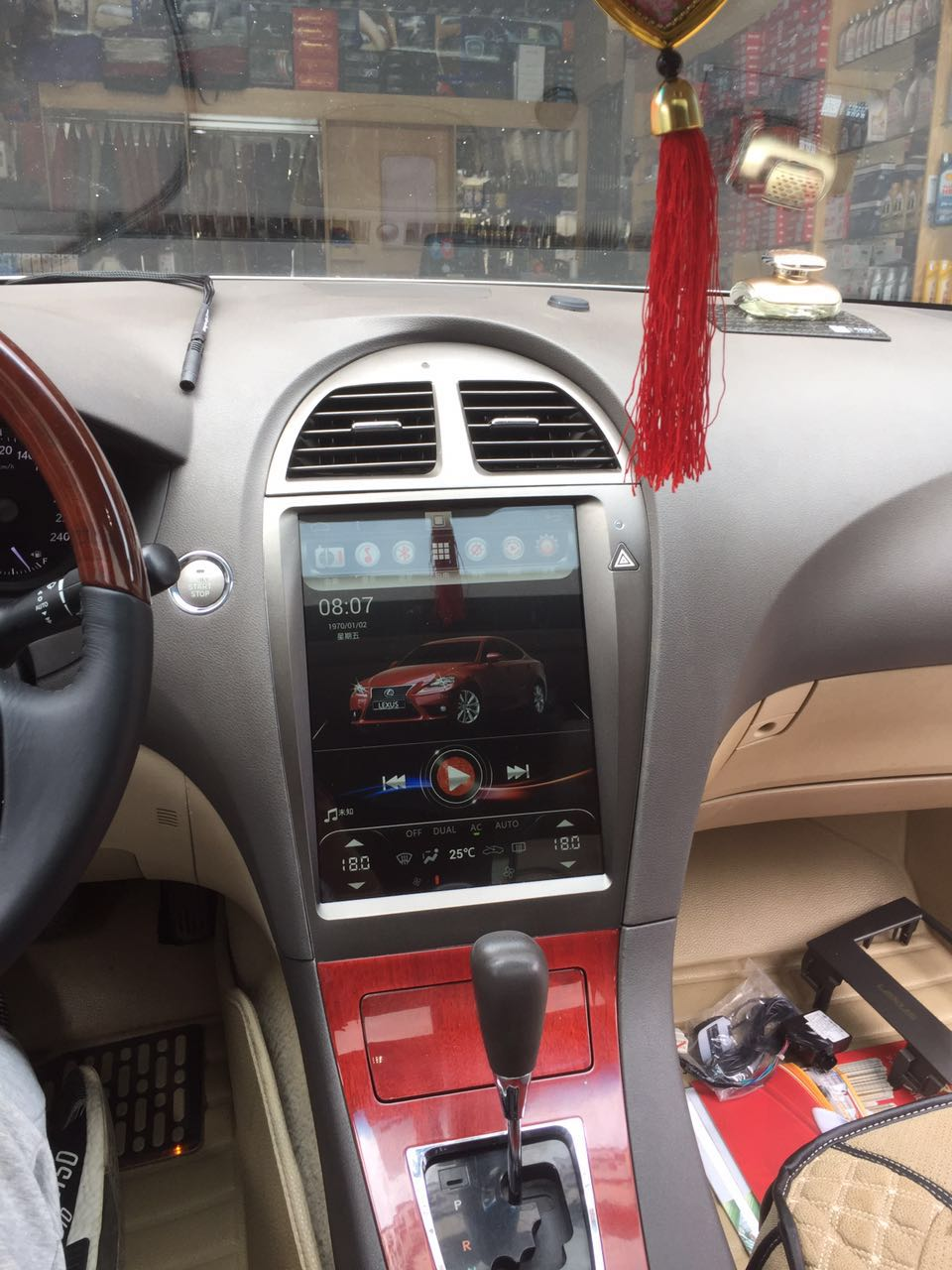 "[Open Box] Lexus ES 2007-2012 12.1"" Vertical Screen Android Radio with Aluminum Alloy Bezel Tesla Style"