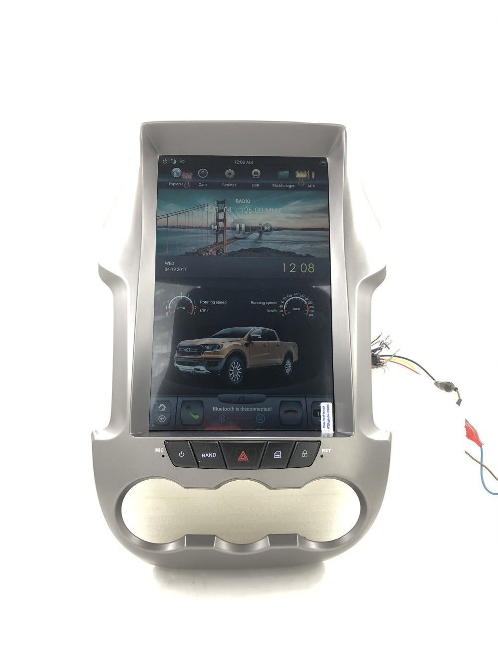 "Ford Ranger 2006 - 2016 12.1"" Vertical Screen Android Radio Tesla Style"