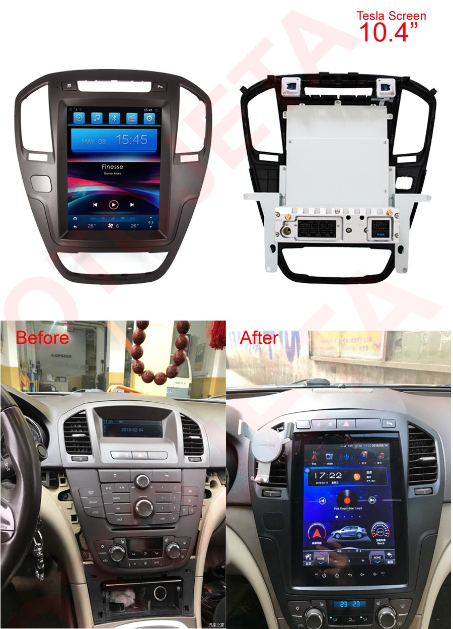"Buick Regal 2009 - 2013 10.4"" Vertical Screen Android Radio Tesla Style"