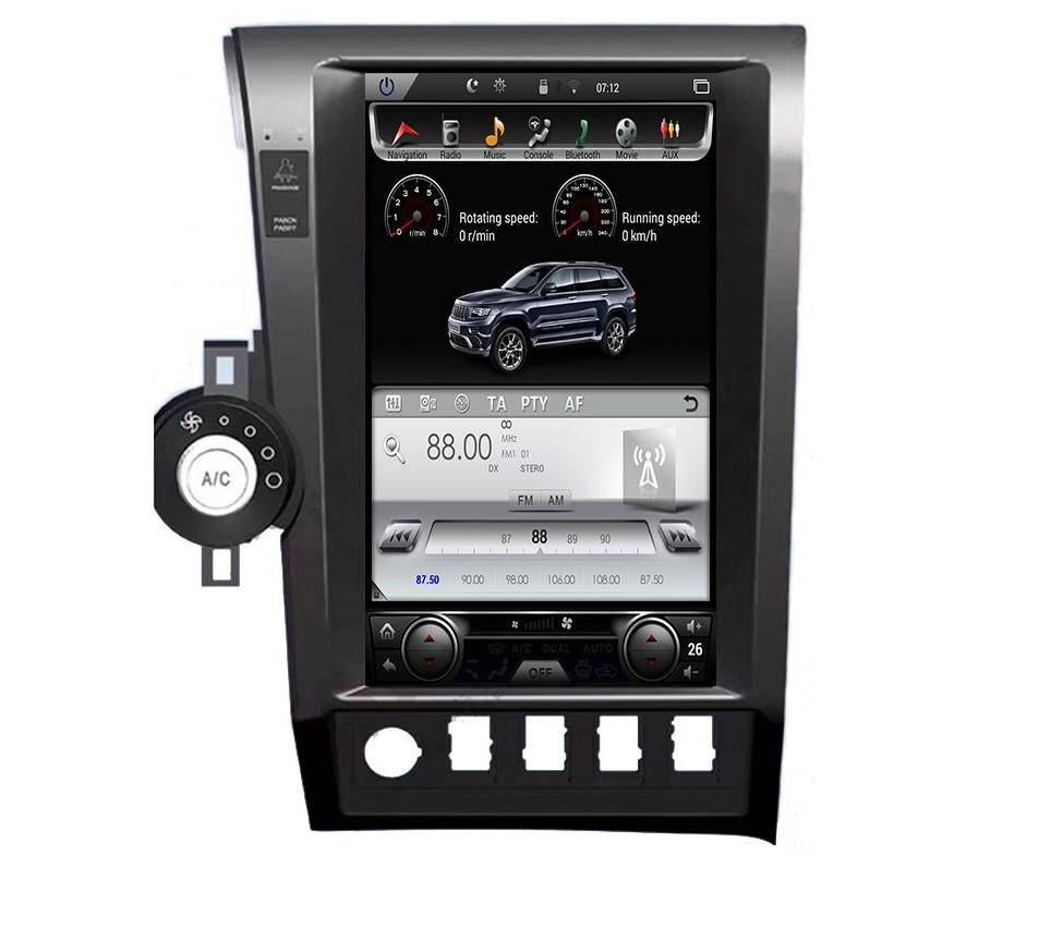 "[Open Box] Toyota Tundra 2007 - 2013 Toyota Sequoia 2008 - 2018  13.6"" Vertical Screen Android Radio Tesla Style with 2K Resolution"