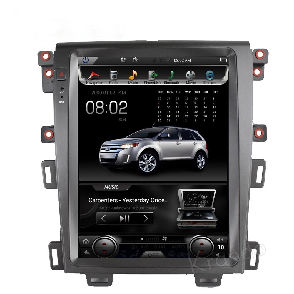 "Tesla Style Ford Edge 2009 - 2014 12.1"" Vertical Screen Android Radio - Rhino Radios"