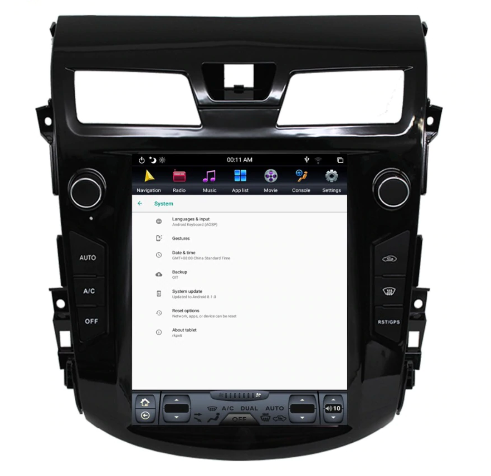 "Nissan Altima 2013 - 2015 10.4"" Vertical Screen Android Radio Tesla Style"