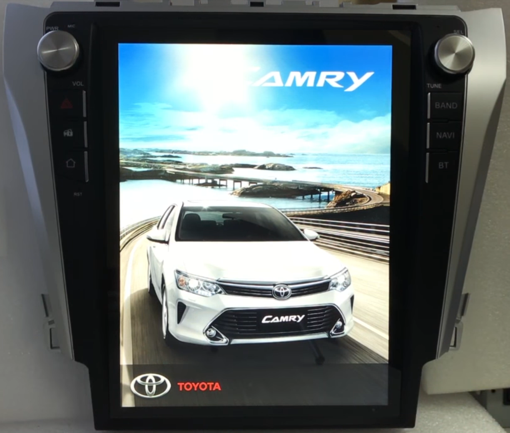 "Tesla Style Toyota Camry 2014 - 2017 10.4"" Vertical Screen Android Radio - Rhino Radios"