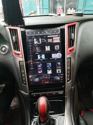 "Infiniti Q50 Q50L Q60 12.1"" Vertical Screen Android Radio Tesla Style"