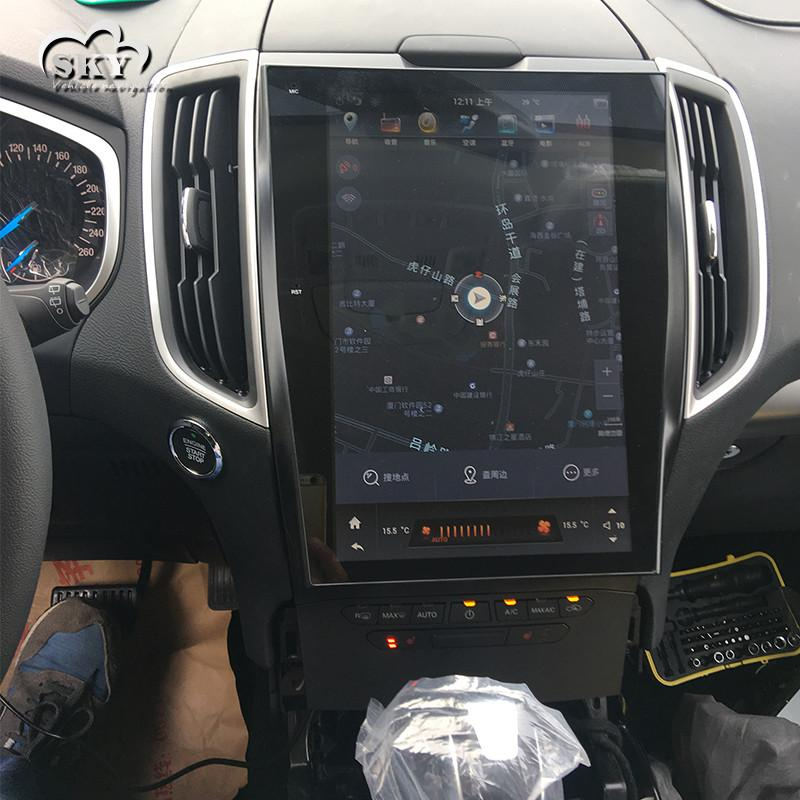 "Tesla Style Ford Edge 2015 - 2018 12.1"" Vertical Screen Android Radio - Rhino Radios"