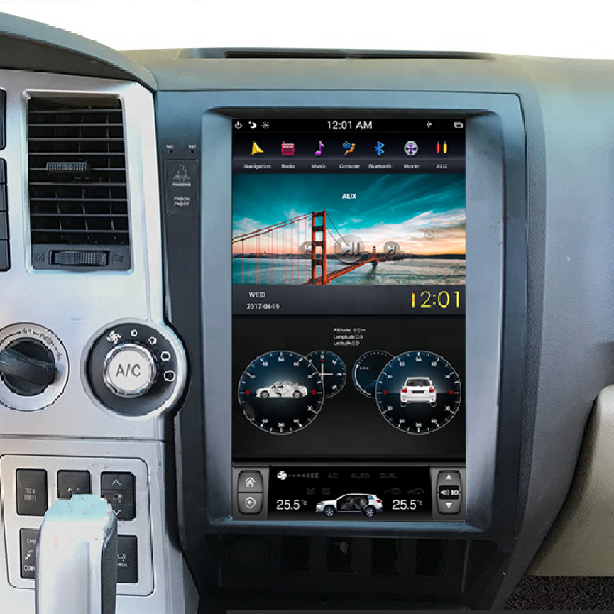 "Toyota Tundra 2007 - 2013 Toyota Sequoia 2008 - 2018  13.6"" Vertical Screen Android Radio Tesla Style with 2K Resolution"