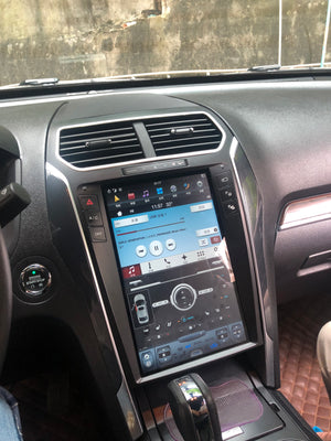 "[Open Box] Ford Explorer 2011 - 2018 12.1"" Vertical Screen Android Radio Tesla Style with SYNC 2 and SYNC 3 Retaiend"