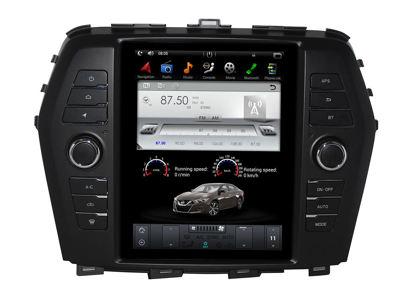 "[Open Box] Nissan Maxima 2015 - 2018 10.4"" Vertical Screen Android Radio Tesla Style"