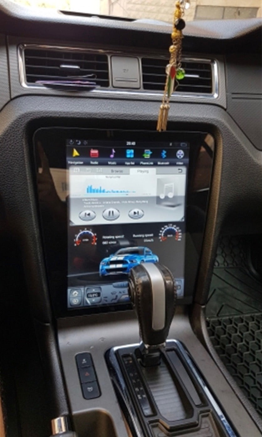 "Ford Mustang 2010 - 2014 12.1"" Vertical Screen Android Radio Tesla Style"