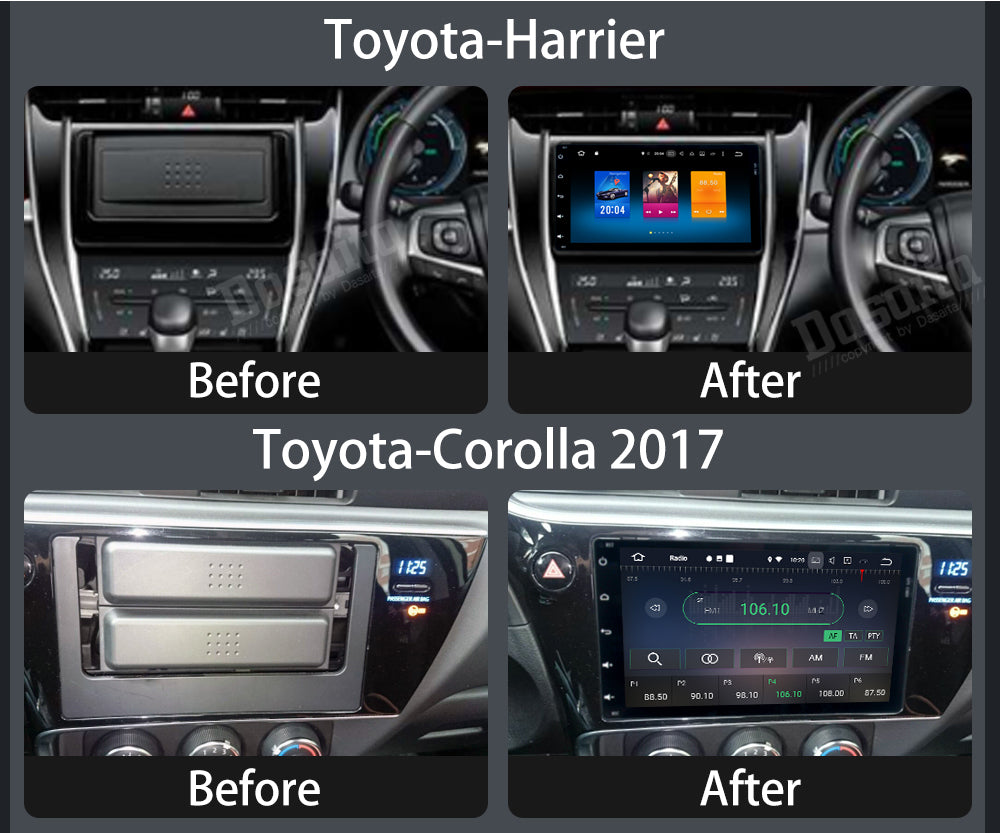"Dasaita 9"" Android 8.0 Car DVD Player for Toyota Corolla Auris Fortuner 2017 with Octa Core 4G+32G Auto Radio Multimedia NAVI"