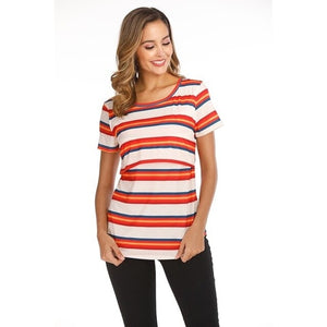 2019 Summer Women Breastfeeding Clothes Striped -  Peek A Boob LLC