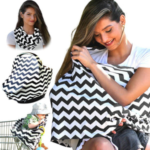 2in1 Women Breastfeeding Baby Car Seat Canopy -  Peek A Boob LLC