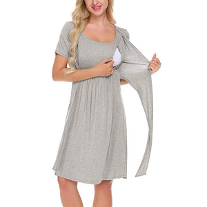 Tie Summer Breastfeeding Dress -  Peek A Boob LLC
