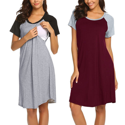 Casual T-Shirt Breastfeeding Dress -  Peek A Boob LLC