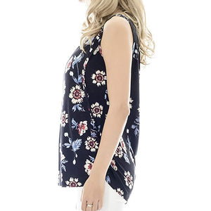 Women Maternity Casual Sleeveless Breastfeeding -  Peek A Boob LLC