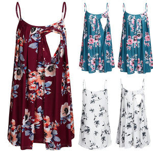 Floral Breastfeeding Tank Tops -  Peek A Boob LLC
