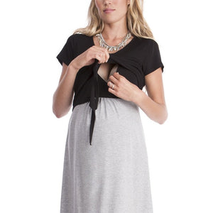 Cotton Maternity & Breastfeeding or Nursing Dress -  Peek A Boob LLC