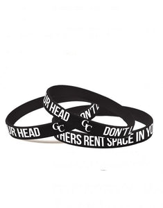 Don't Let Others Rent Space In Your Head. GC Wristbands