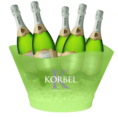 Custom LED Ice Bucket for Korbel