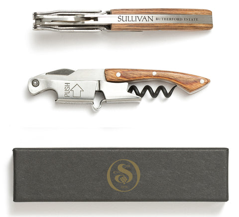 Custom Naturalwood Coutale Sommelier Corkscrew