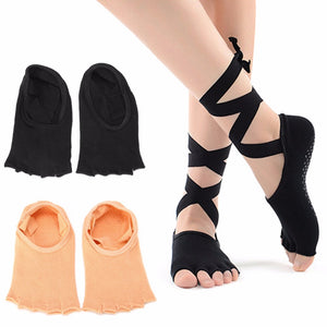 1 Pair Women Sport Yoga 5 Toes Socks Exercise Massage Cotton Pilates Anti-slip Socks