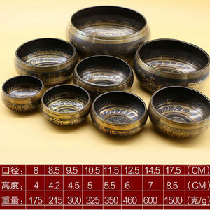 Himalayan Hand Hammered Chakra Meditation Bowl Religion Belif Yoga Tibetan Buddhist Brass Singing Bowl