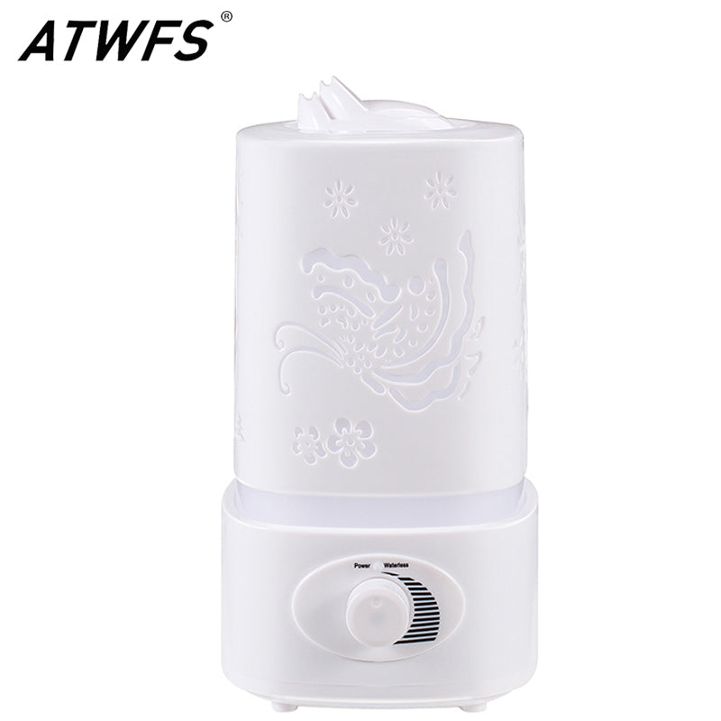Aromatherapy Air Humidifier Fogger LED Night Light Carve Aroma Diffuser Mist Maker Diffuser for Home Office Oil Ultrasonic
