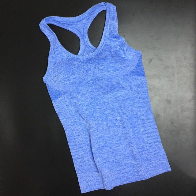Womens sports Dry Quick Anti-Shrink Loose Gym Tank Tops Fitness Sport
