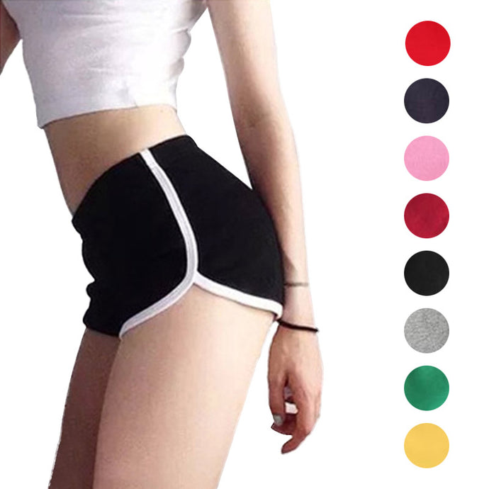 Sexy Women Fitness Sports Shorts Elastic Waist Running Gym Yoga Breathable Cotton Short Pants