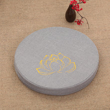 Cotton&Linen Multi-function Embroidered Lotus Meditation Cushion  Removable and Washable Floor Cushion Multi-size and colors