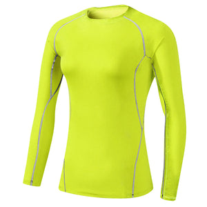 Fitness Gym Exercise Training Top Long Sleeve  Sports Running Yoga Shirts Plus