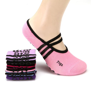 Women Anti Slip Cotton Yoga Socks Ladies Sports Pilates Ballet Dance Socks
