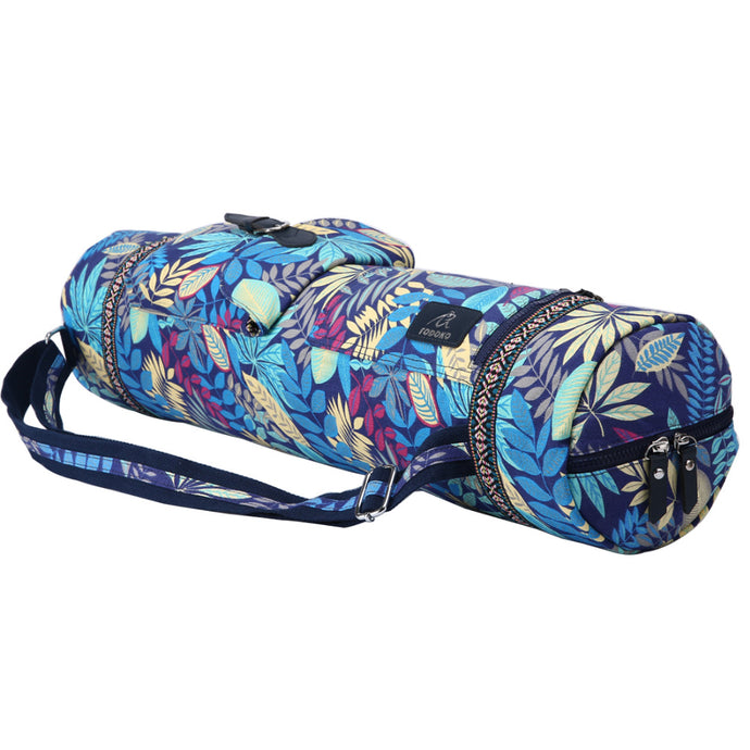 Leaves Yoga Mat Bag Sports Backpack Exercise Bag Fitness Gym Shoulder Bag Women Girls Dance Pilates Mat Package