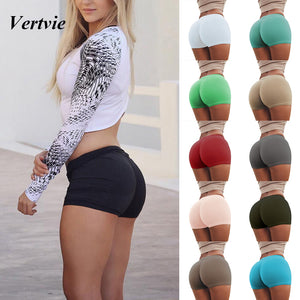 Yoga Shorts Hips Push Up Running Gym Bottoms Tights Clothing Slim Fitness Jogging Femme Sport Short New