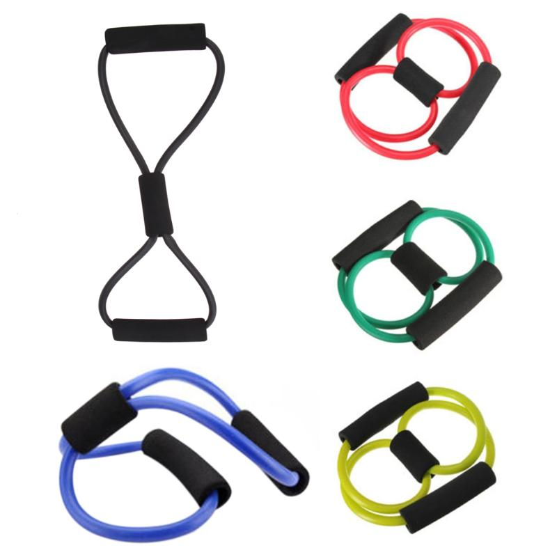 Yoga Pull Rope Tube Rubber Latex Muscle Training Resistance Band Elastic Pull Rope Gym Fitness Equipment Color Random