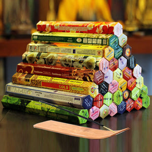9 Boxes Incense Stick With Incense Plate Authentic Indian Incense Premium Multiple Flavors Mixed Package Random Surprise Hot sale