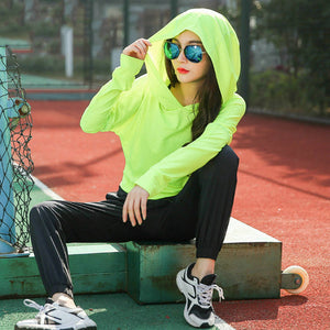 Long Sleeves Sexy back Design Sport Hoodie Gym shirt Fitness Tops tees Sportswear Running Woman Athletic t-shirts