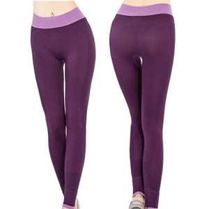 Sport Leggings Women Yoga Pants Elastic Waist Sports Leggings Trousers
