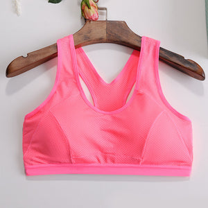 Yoga  Sports Bra Push Up Stretch Cycling Workout Tank Top short Running Sport Bra Top sports T-shirt for fitness