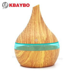 USB Electric Aroma air diffuser wood Ultrasonic air humidifier Essential oil Aromatherapy  cool mist maker for home