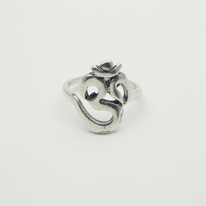 OHM Hindu Buddhist AUM OM Ring Hinduism Yoga India Outdoors Sport Women / Men Ring Religious symbol Jewelry