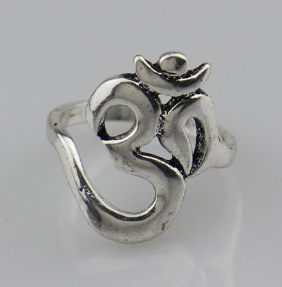 OHM Hindu Buddhist AUM OM Ring Hinduism Yoga India Outdoor Sport Women/Men Ring Religious Symbol Jewelry