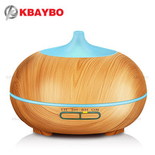 Aroma Essential Oil Diffuser Wood Grain Ultrasonic Cool Mist Humidifier for Office Home Bedroom Living Room Study Yoga Spa