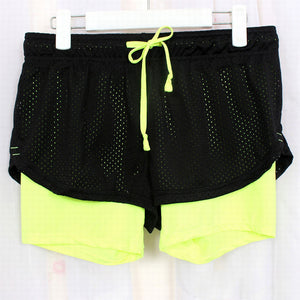Yoga Shorts Mesh Breathable Girl Ladie Short Pants for Running Athletic Sport Fitness