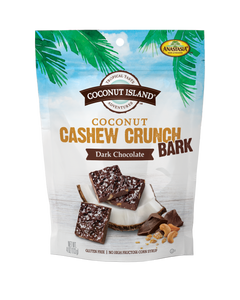 Coconut Cashew Crunch Bark - Dark Chocolate