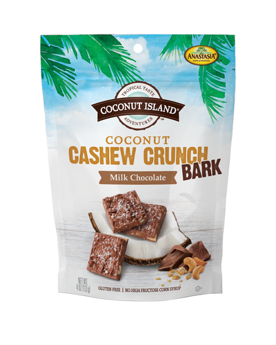 Coconut Cashew Crunch Bark - Milk Chocolate