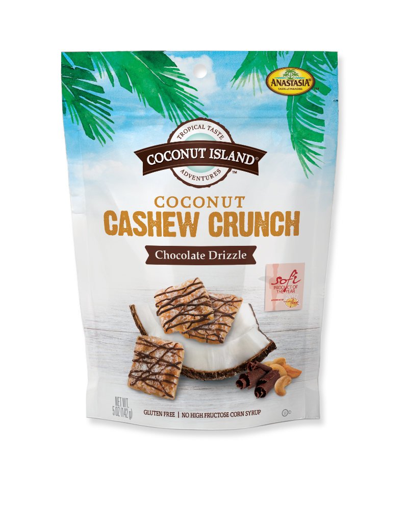 Coconut Cashew Crunch - Chocolate Drizzle