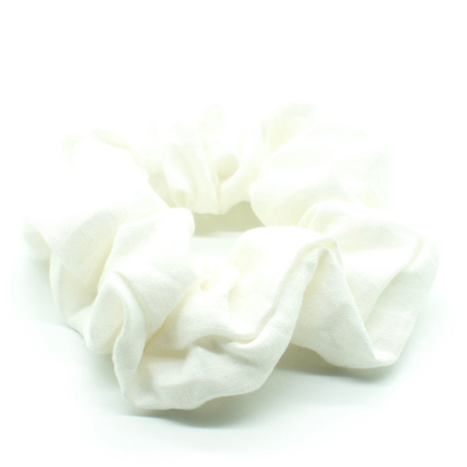 Linen Hair Scrunchies
