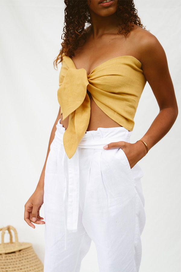 The Bandeau Tie Top